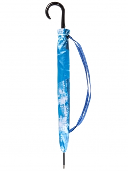 Зонт-трость ELEGANZZA (Элеганза) T-06-0348D Синий фото №2 01-00025094
