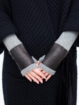 Длинные перчатки ELEGANZZA (Элеганза) 12600100kashemir Черный фото №3 00117152