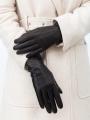 Классические перчатки ELEGANZZA (Элеганза) HP01222sherstkashemir Черный фото №2 00117153
