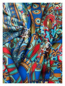 Бижутерия для платков ELEGANZZA (Элеганза) R620 Светло-серый фото №2 01-00023931