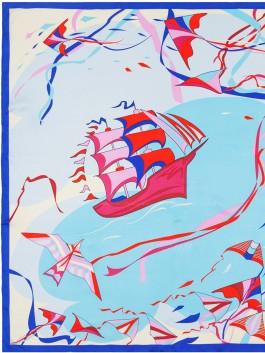 Платок ELEGANZZA (Элеганза) E04-7173 Голубой фото №1 01-00026253