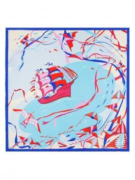 Платок ELEGANZZA (Элеганза) E04-7173 Голубой фото №2 01-00026253