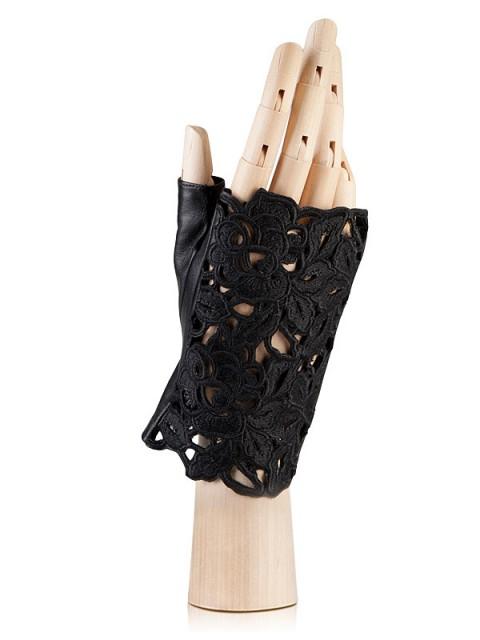 Перчатки без пальцев, митенки ELEGANZZA (Элеганза) F-0162 Черный фото №1 01-00014233