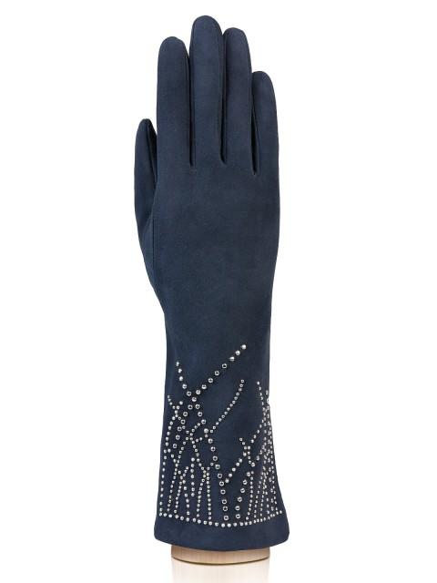 Длинные перчатки ELEGANZZA (Элеганза) IS20010 Синий фото №1 01-00015873