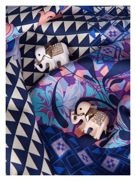 Бижутерия для платков ELEGANZZA (Элеганза) R427 Белый фото №2 01-00014171