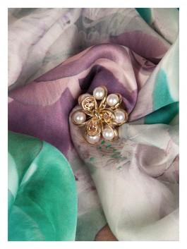 Бижутерия для платков ELEGANZZA (Элеганза) R441 Золотой фото №2 01-00014175