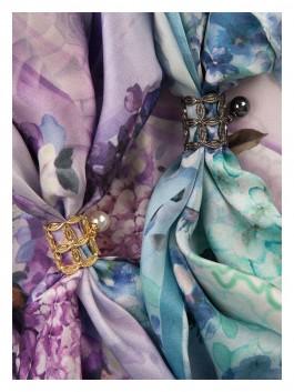 Бижутерия для платков ELEGANZZA (Элеганза) R462 Серебряный фото №2 01-00014150