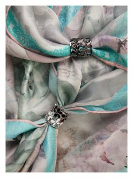 Бижутерия для платков ELEGANZZA (Элеганза) R468 Светло-серый фото №2 01-00014162